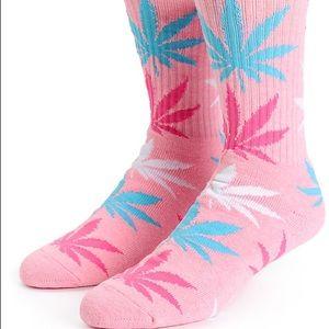 Huf Plantlife Pastel Pink Blue White Crew Socks